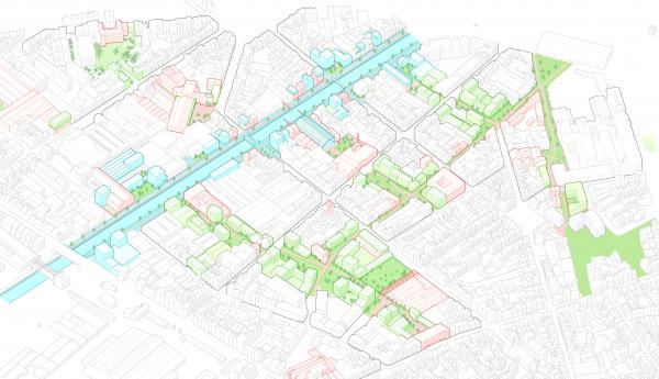 Proposition de réaménagement des espaces publics et verts autour du canal et de la rue Heyvaert
