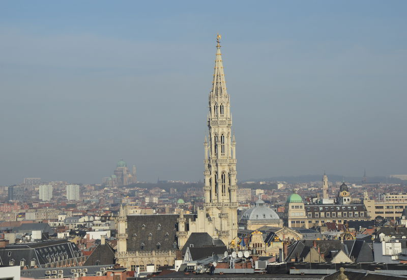 Uitzicht over Brussel (Stadhuis van Grote Markt)